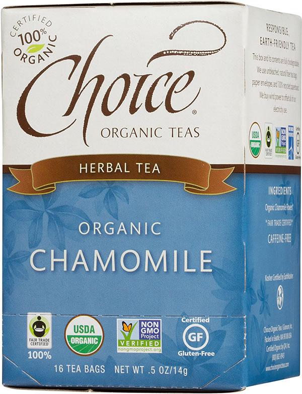 choice organic chamomile teabags